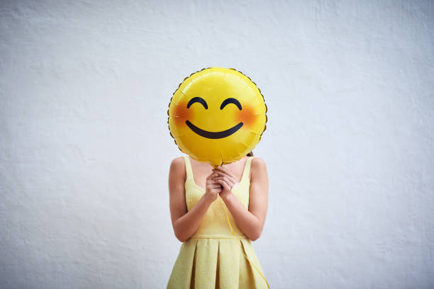 hold on to your smile and spread the happiness - emoji foto e immagini stock