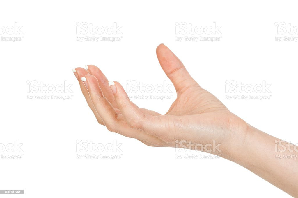 hold palm royalty-free stock photo
