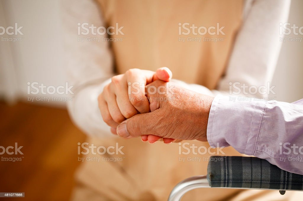 Hold the hand stock photo