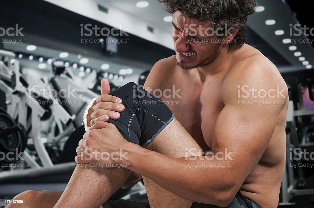 Hold the pain stock photo