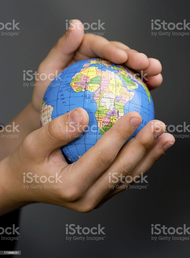 hold the world royalty-free stock photo