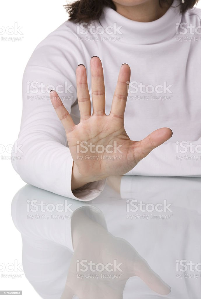 Hold there royalty-free stock photo