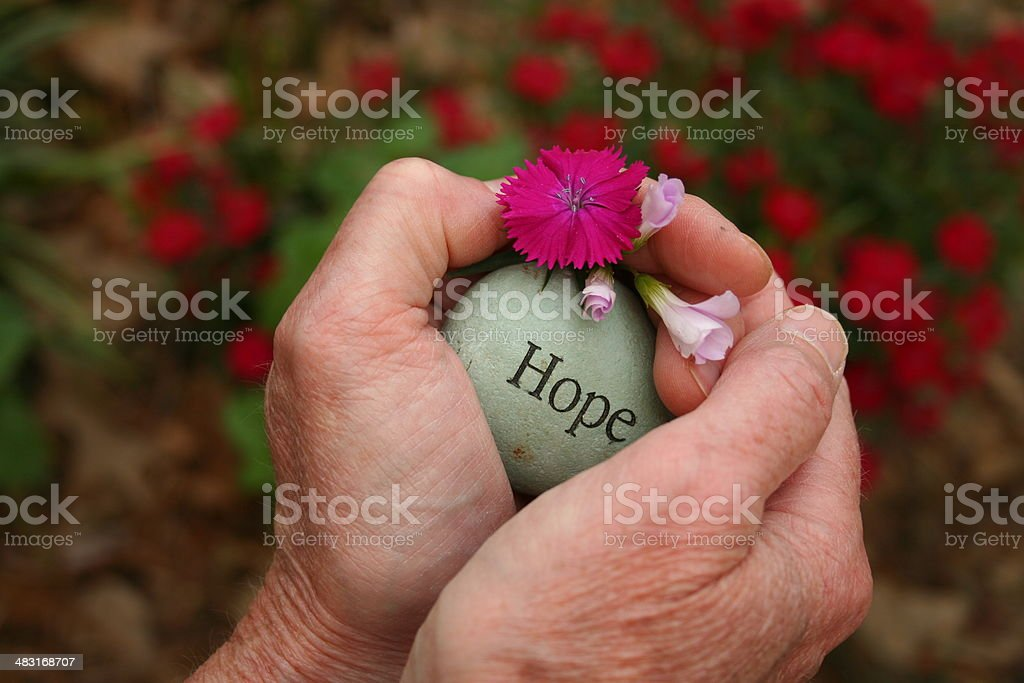 Hold tight to Hope stock photo