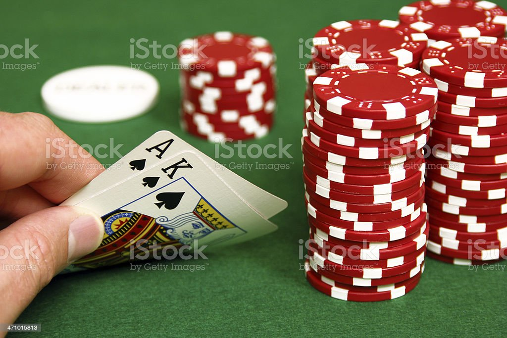 Hold'em- Big Slick on the Button royalty-free stock photo