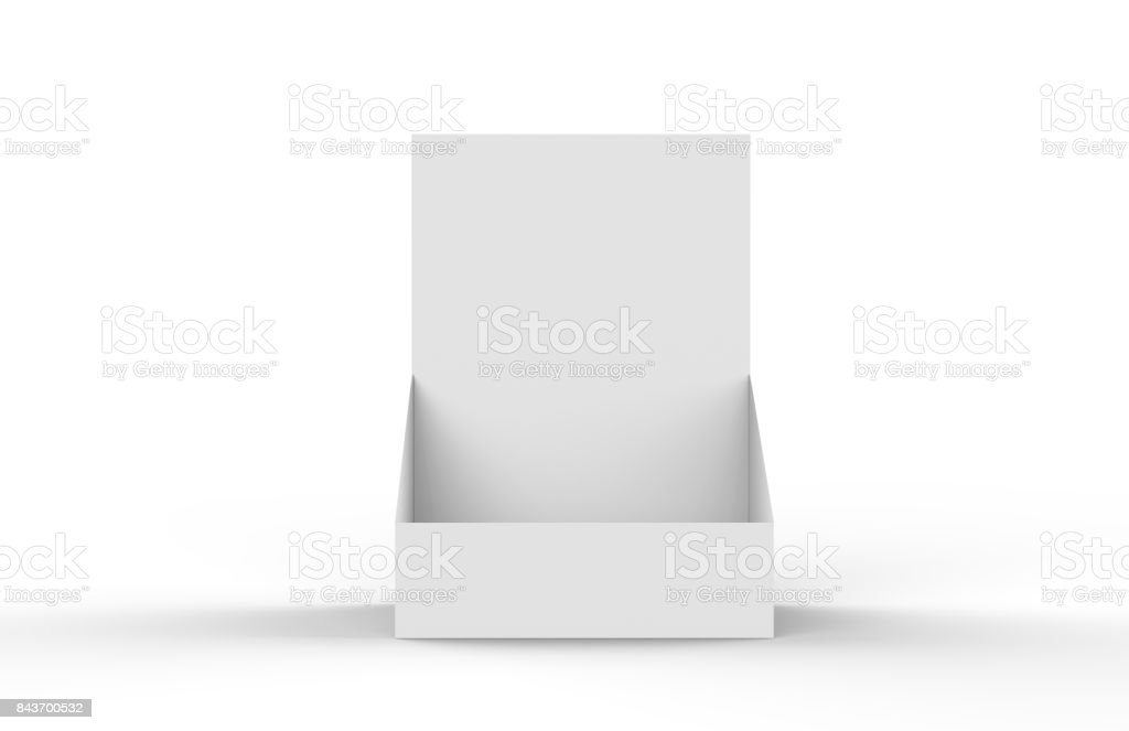 Holder For Advertising, Leaflets, Products Mock Up Template On Isolated White Background stock photo