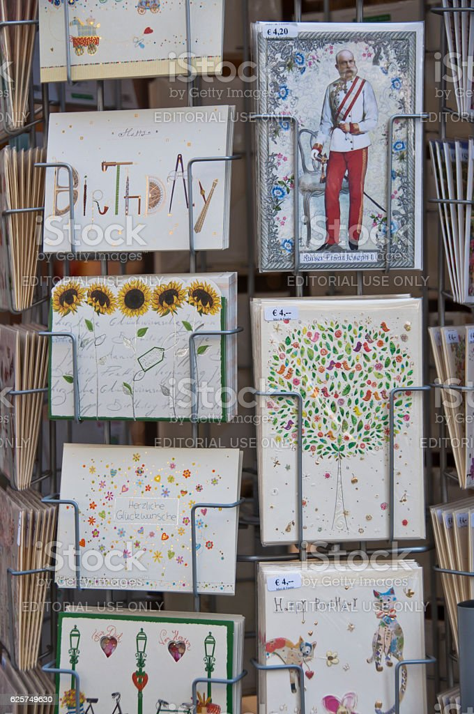 Holder with Greeting Cards, Vienna – Foto