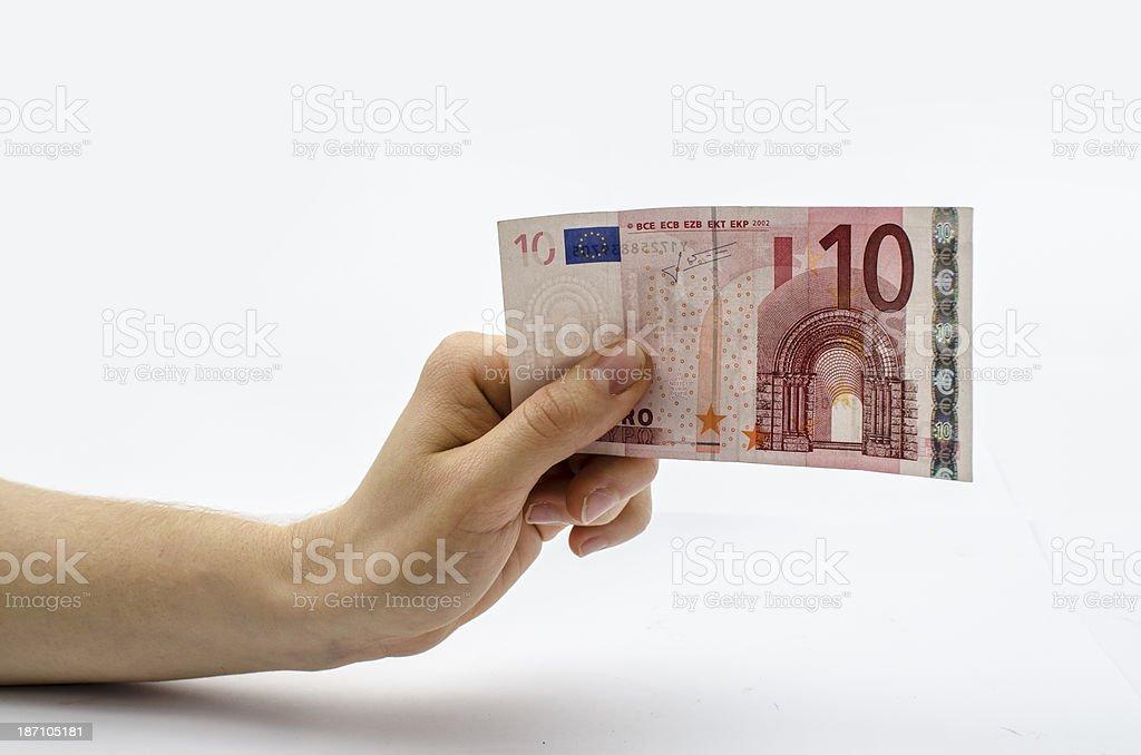 Du einen 10-Euro-Schein – Foto
