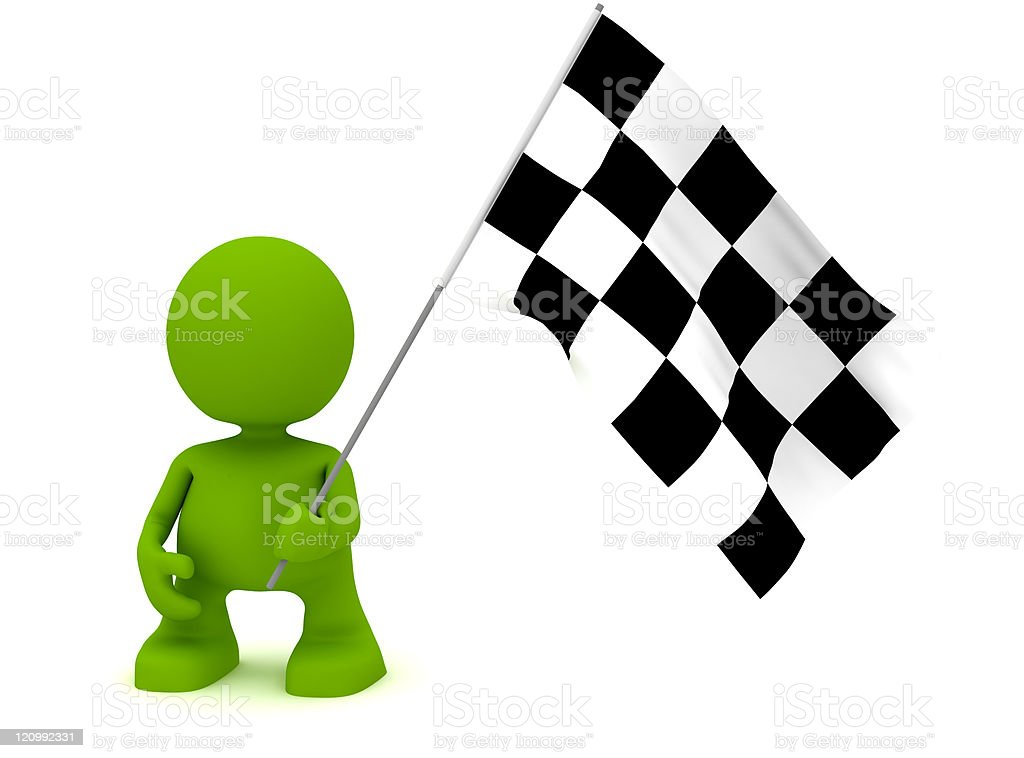 Holding a Chequered Flag royalty-free stock photo