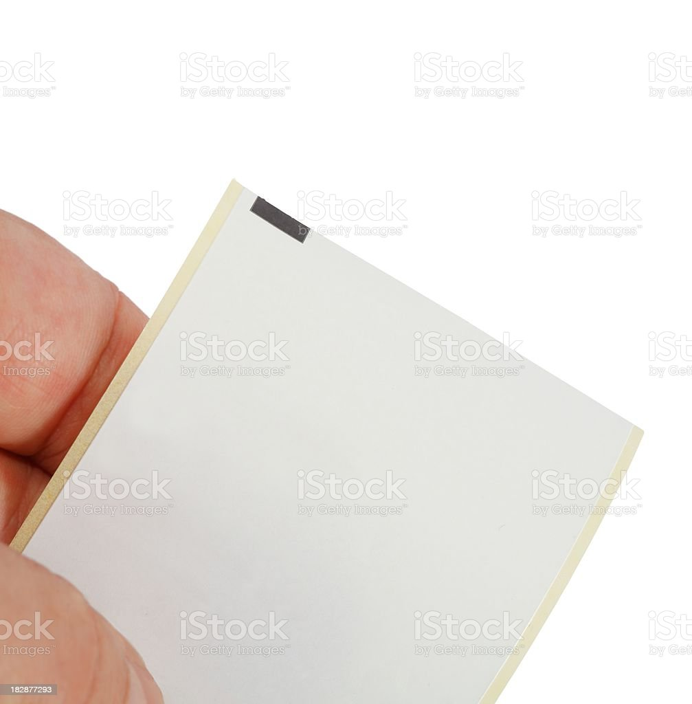 holding a clear bon isolated on white royalty-free stock photo