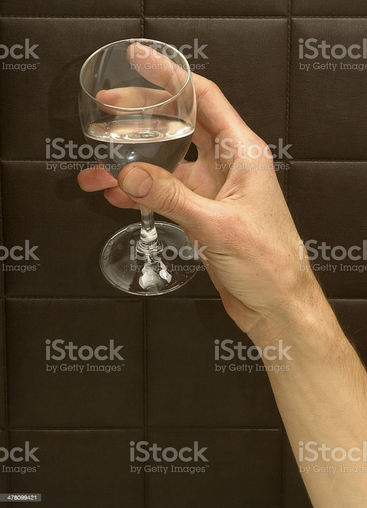 Holding A Glass of Water royalty-free stock photo