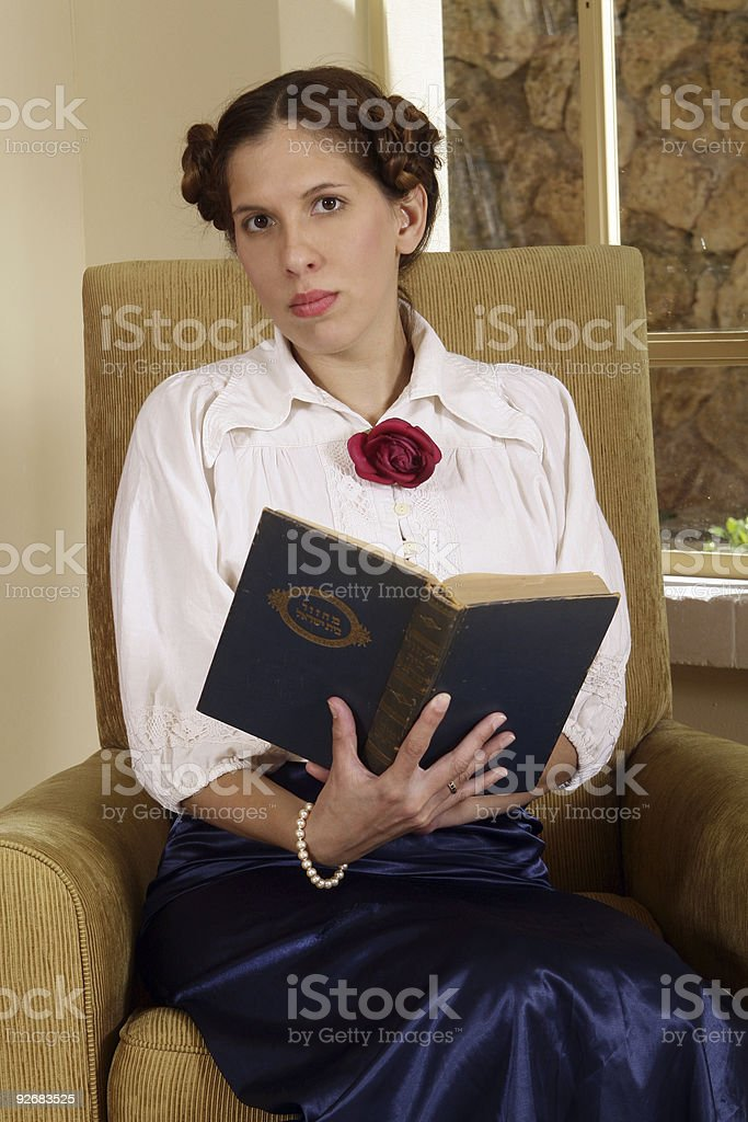 Holding a holy book stock photo