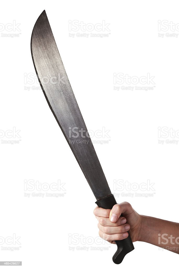 Holding a Machete royalty-free stock photo