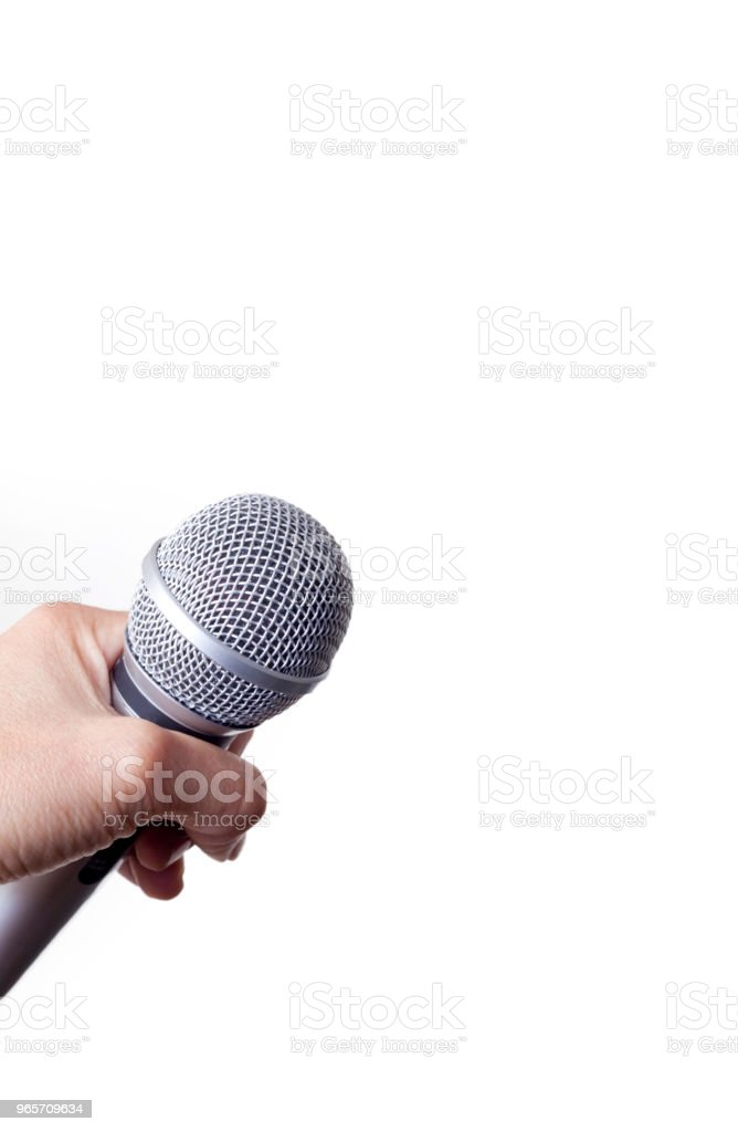 Holding A Microphone - Royalty-free Achievement Stock Photo