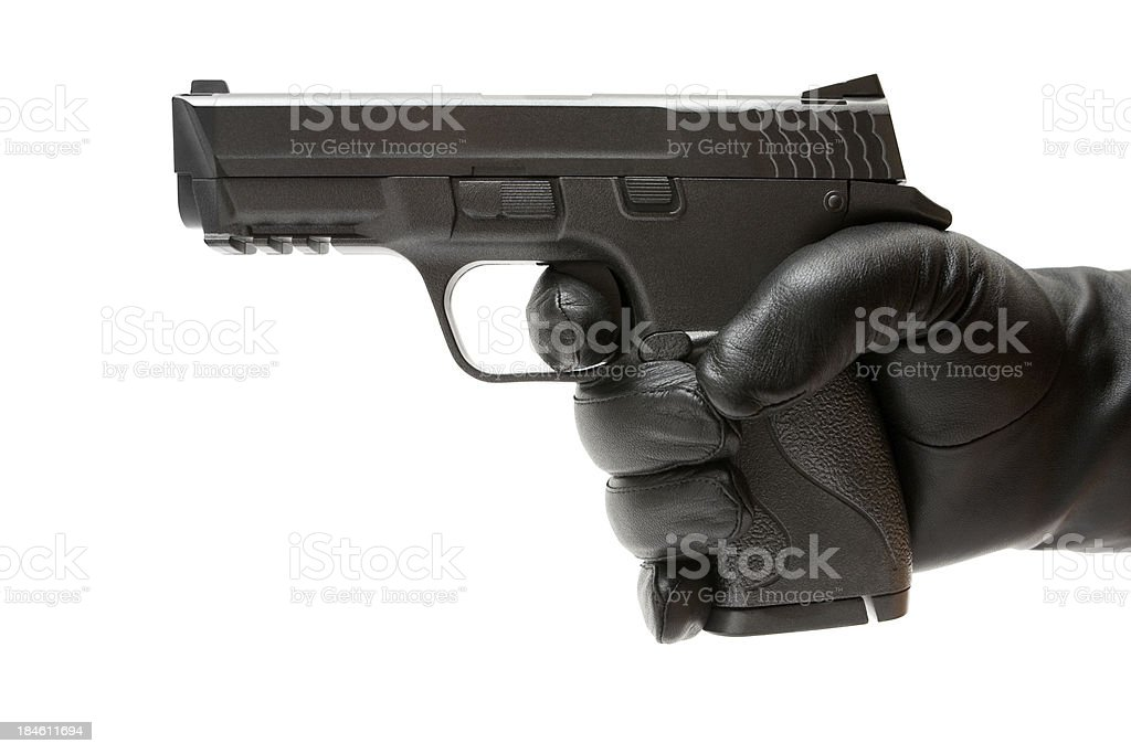 Holding a Toy Gun royalty-free stock photo