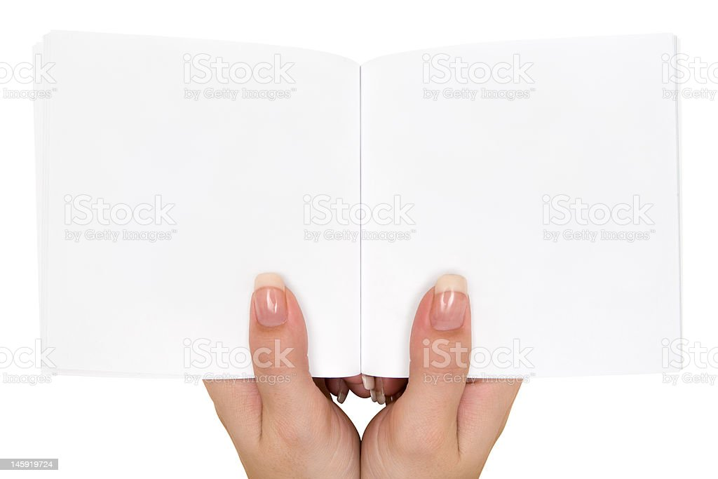 Holding an Empty Book stock photo