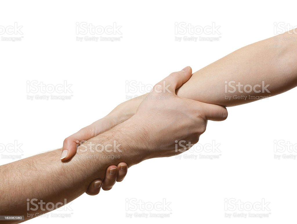 Holding arms royalty-free stock photo