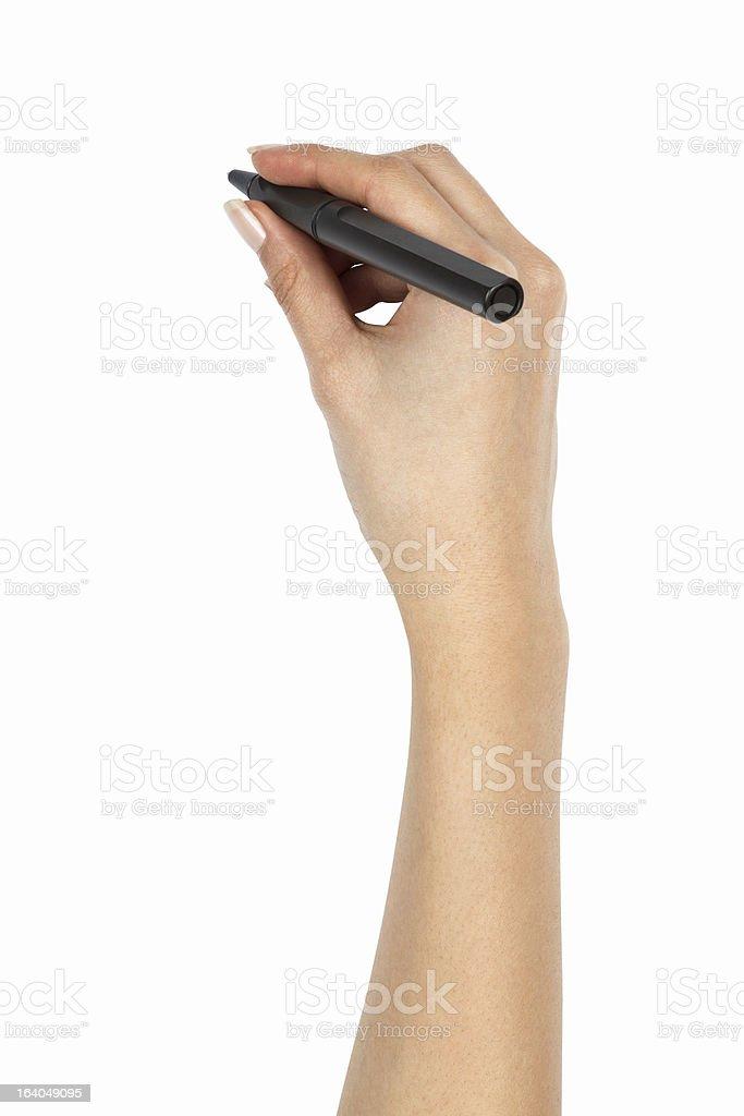 Holding Ball Pen stock photo