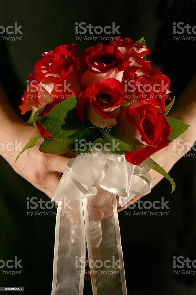 Holding Bouquet stock photo