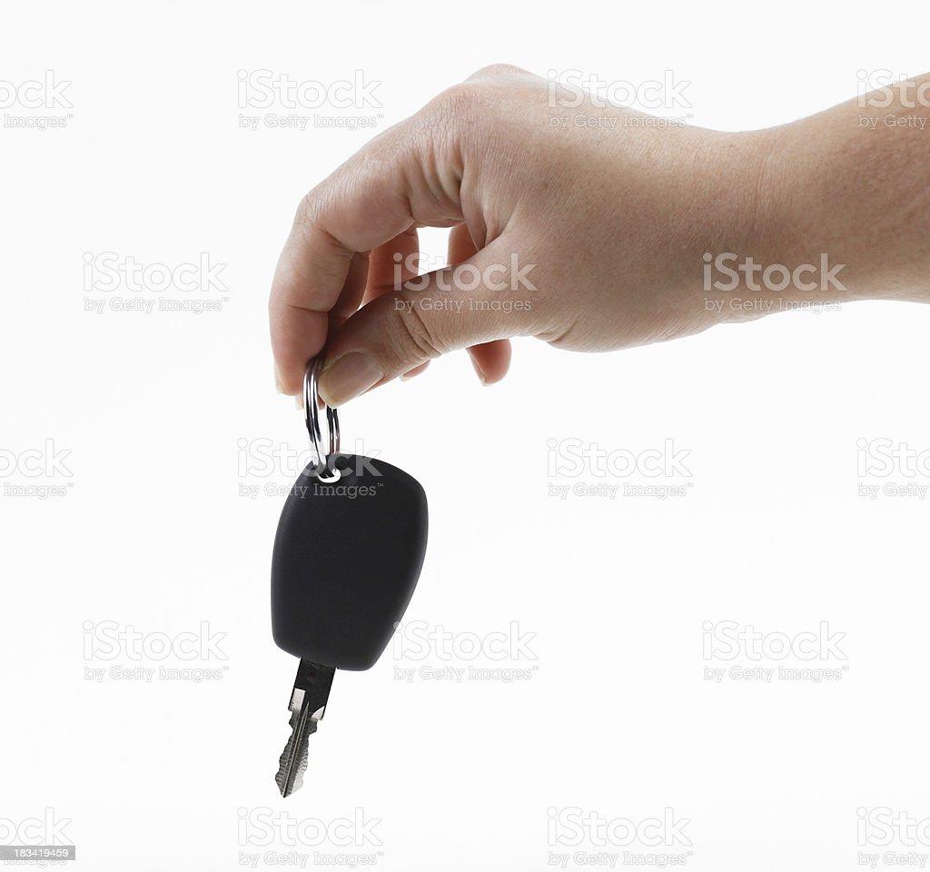 Holding car key royalty-free stock photo