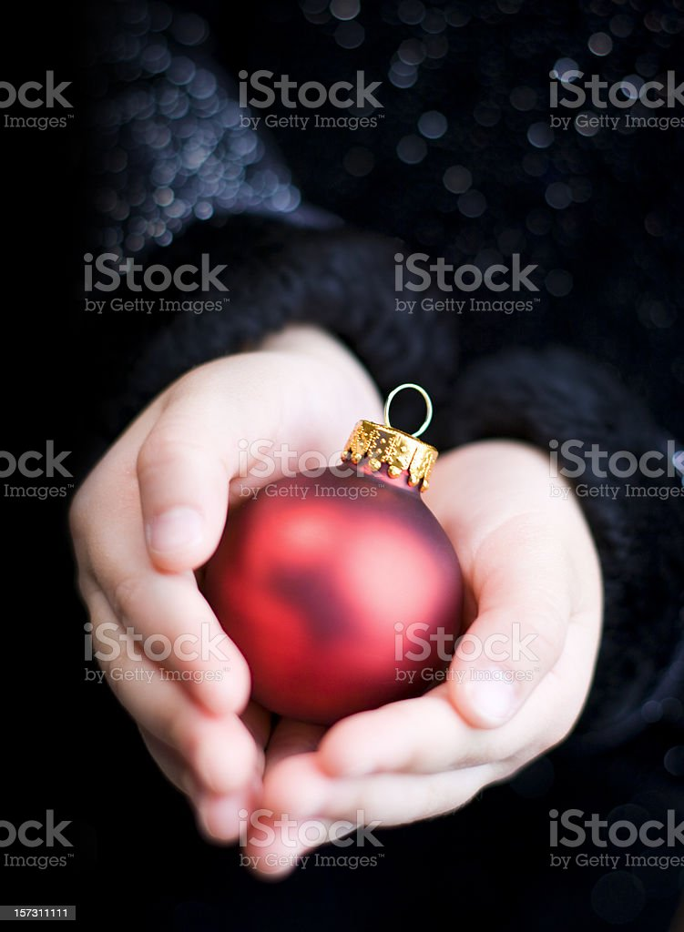 Holding Christmas royalty-free stock photo