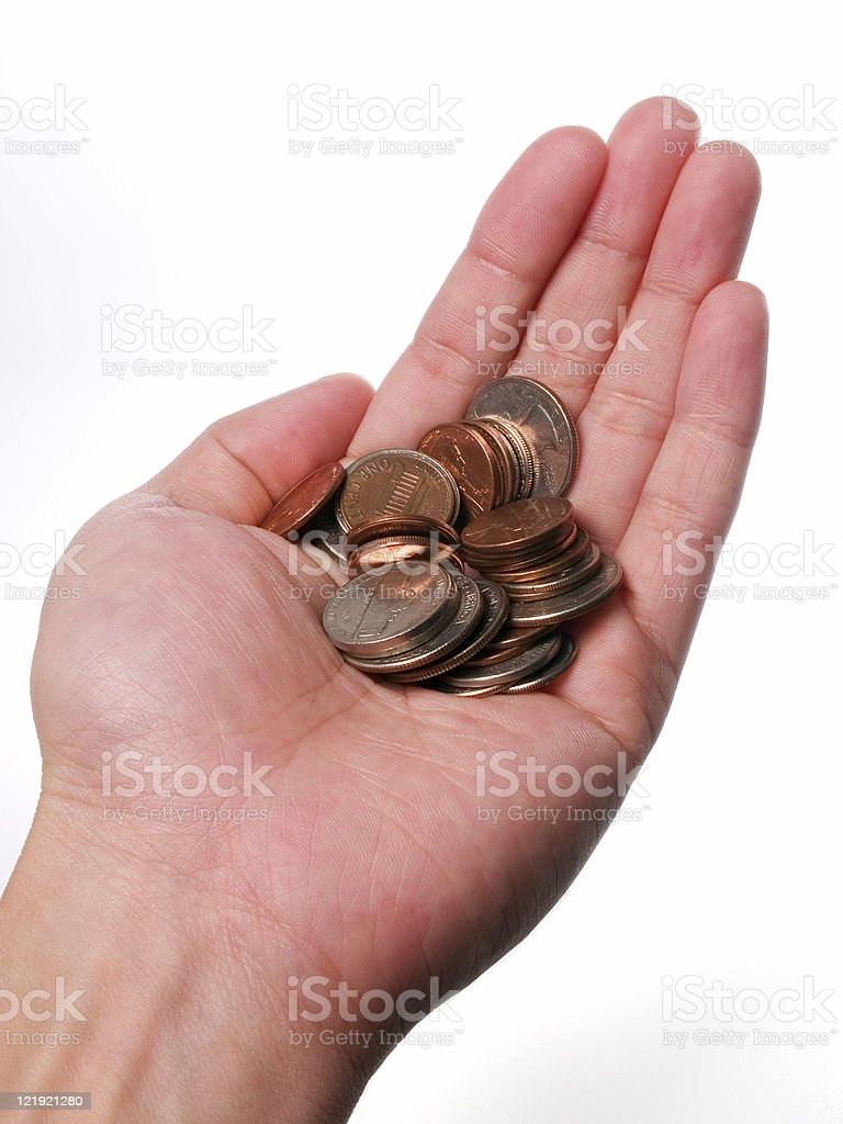 Holding Coins royalty-free stock photo