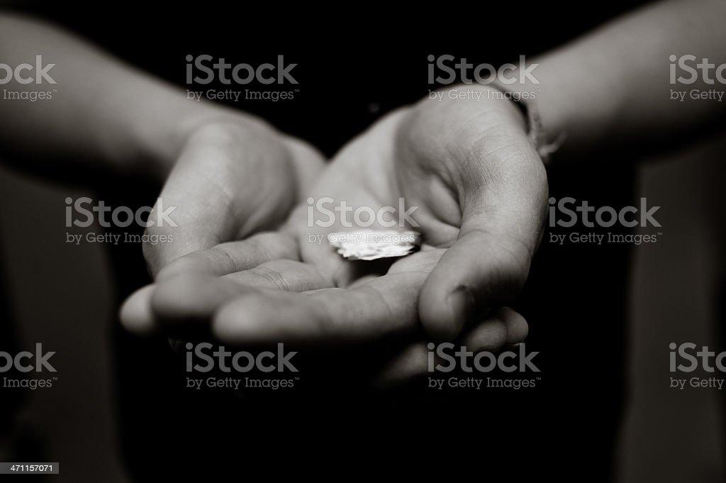 Holding Communion royalty-free stock photo