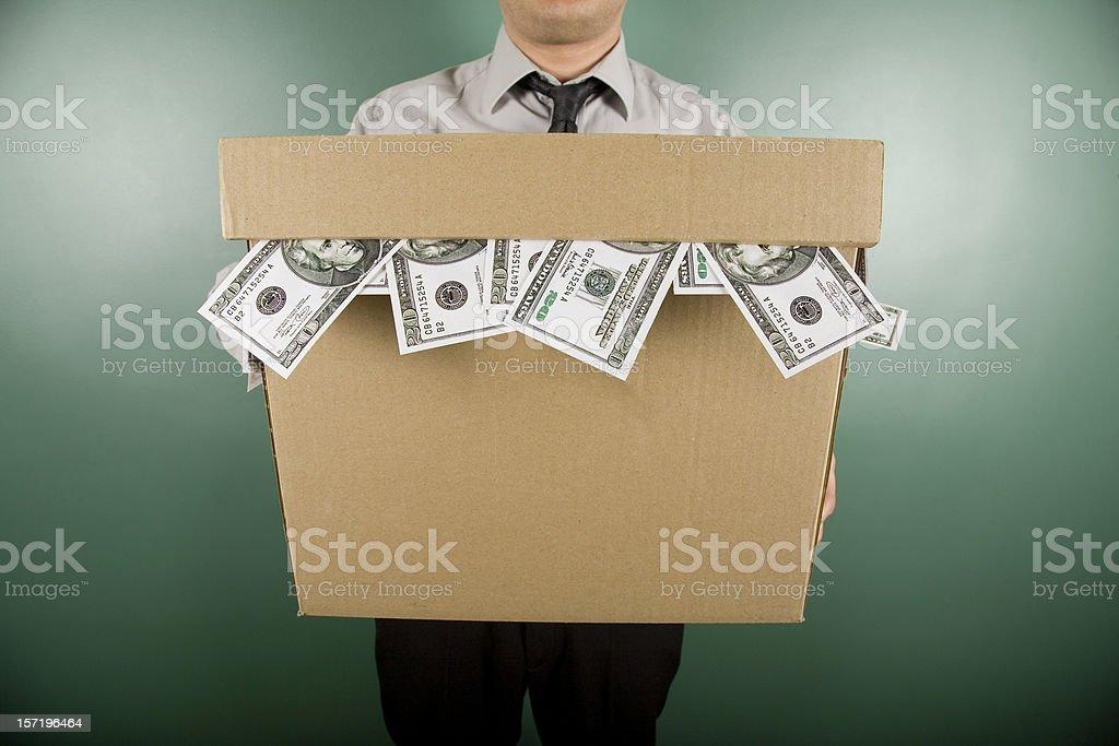 Holding Dollar royalty-free stock photo