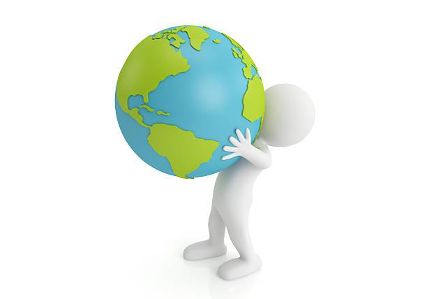 holding earth stock photo