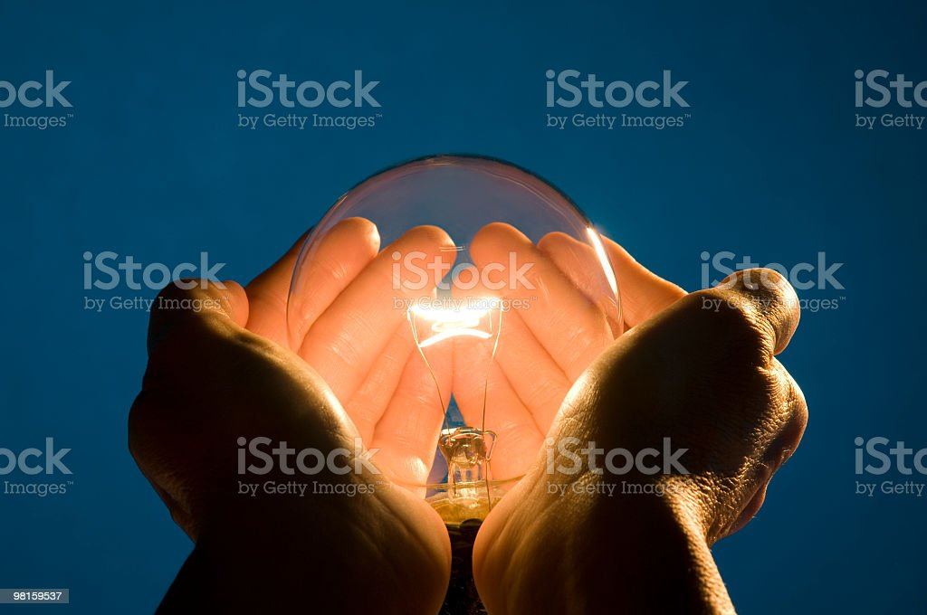 Holding Energy in the Palms of my Hands royalty-free stock photo