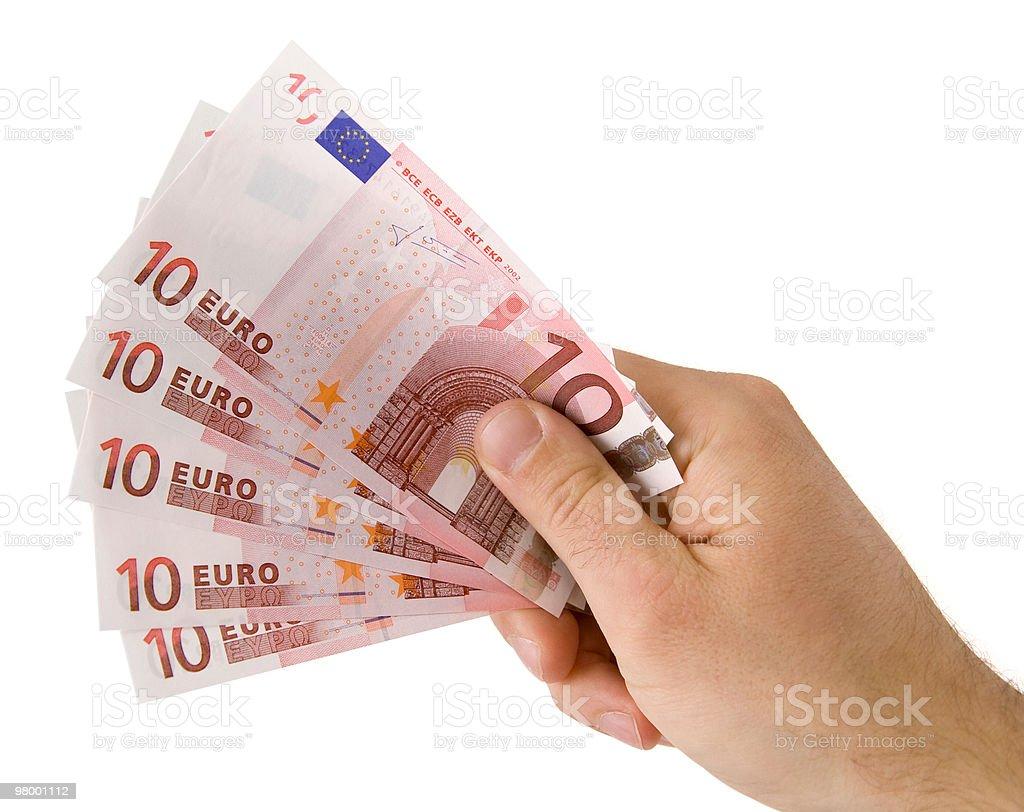 Holding euro royalty-free stock photo