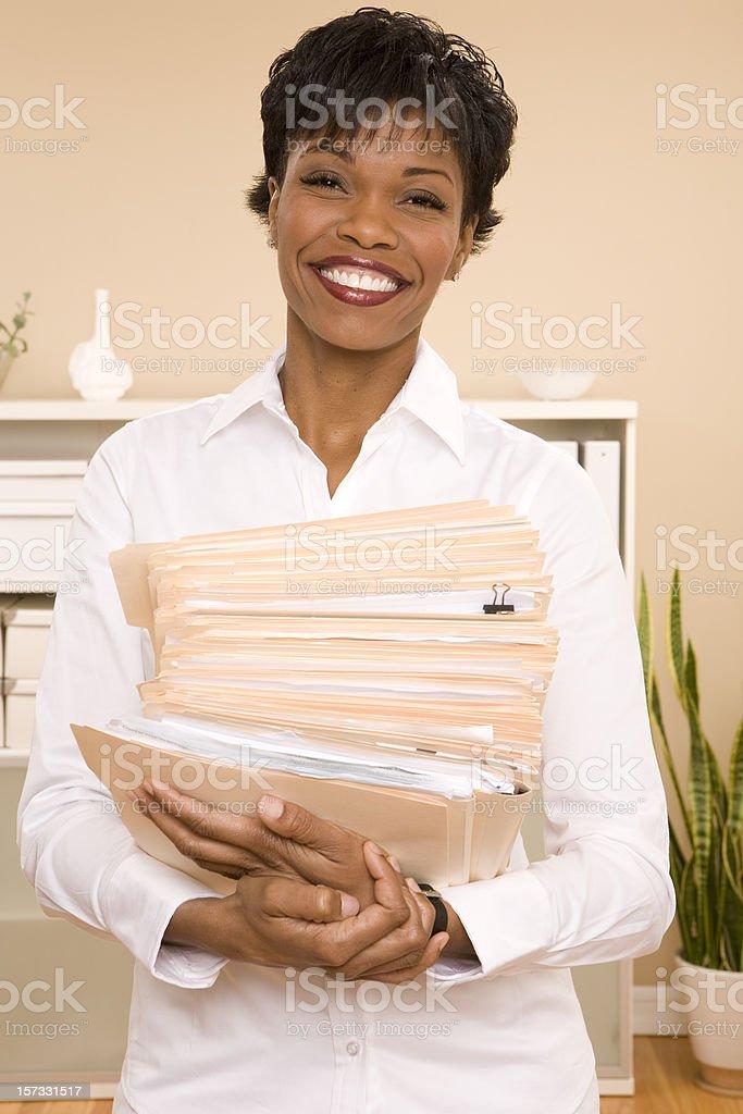 Holding File Folders royalty-free stock photo