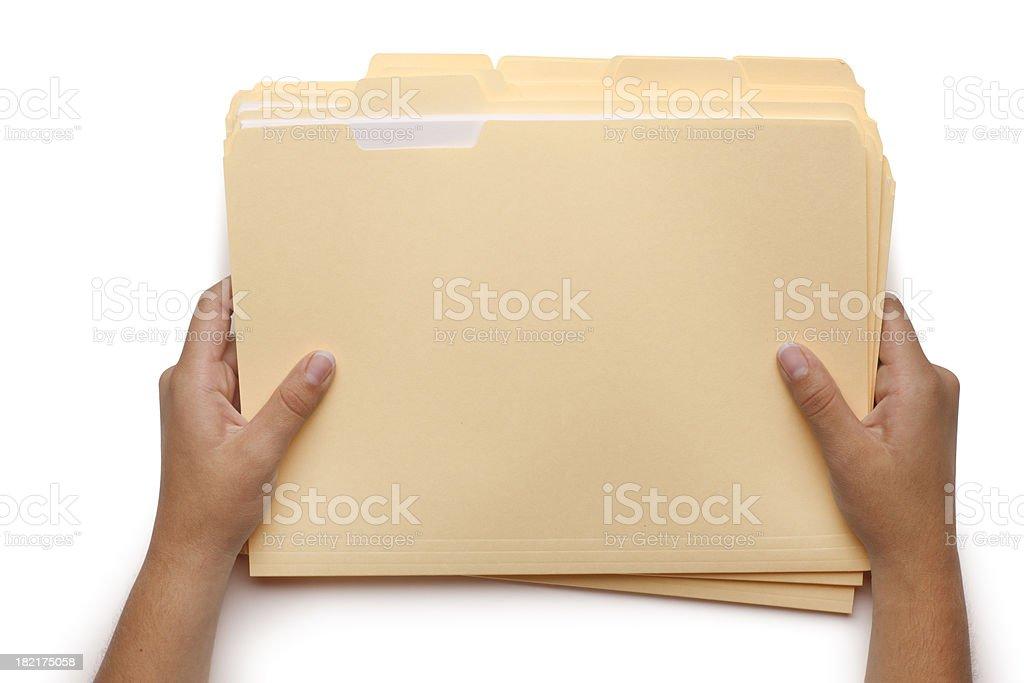 Holding File Folders stock photo