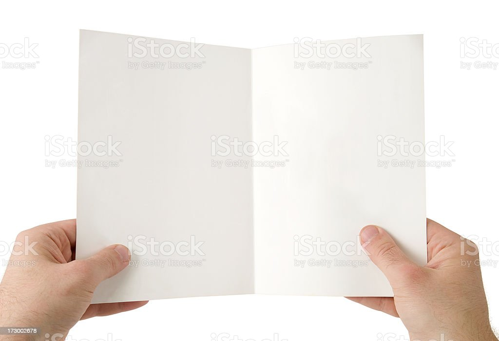 Holding folder stock photo