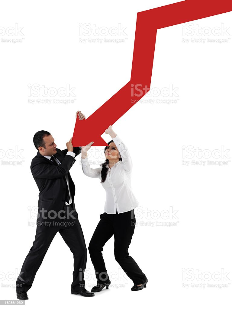 holding graph chart royalty-free stock photo