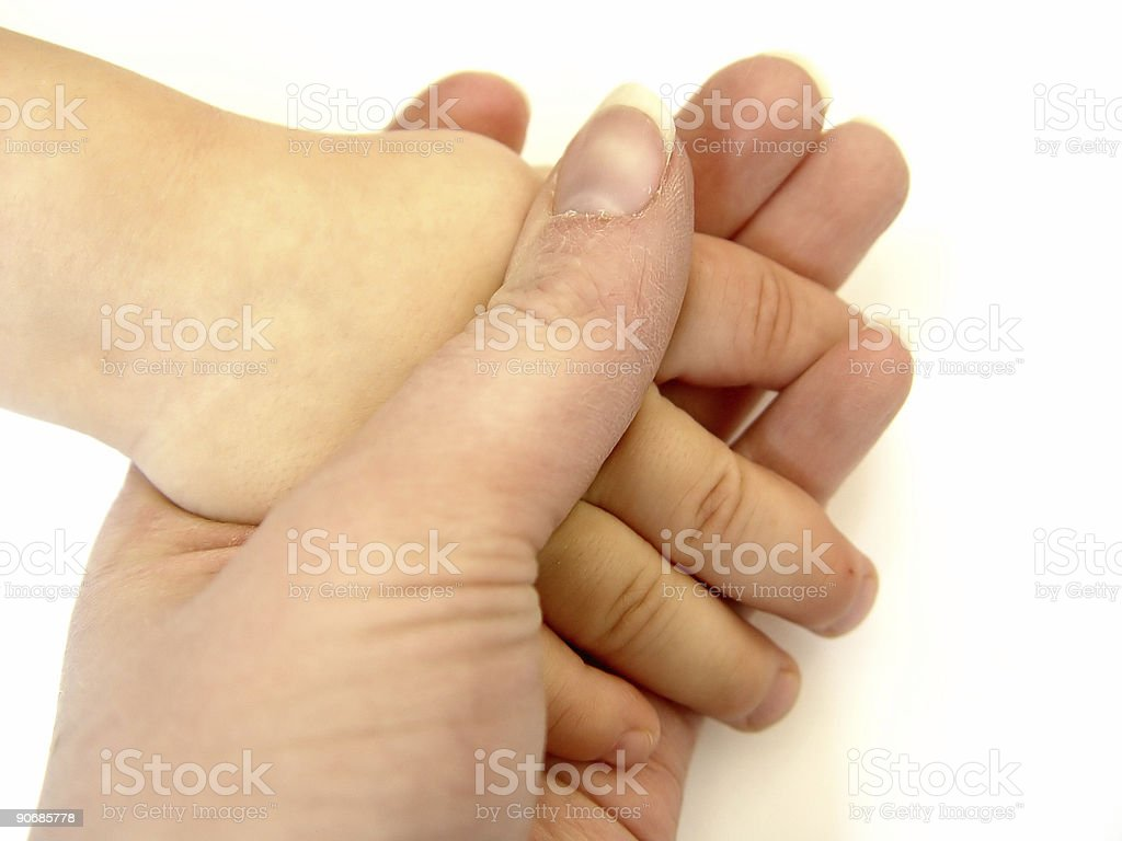 Holding Hands -  Color royalty-free stock photo
