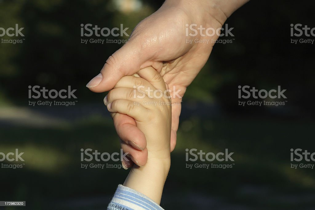 Holding hands. royalty-free stock photo