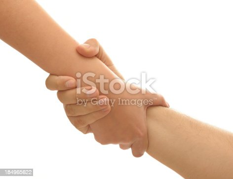 istock Holding hands 184965622