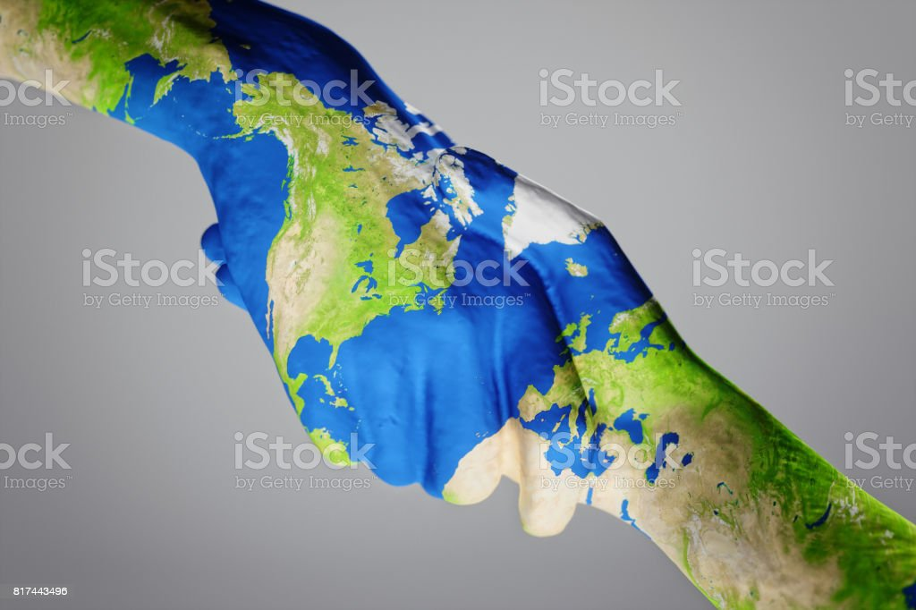 World Map On Hands.Holding Hands With World Map Stock Photo More Pictures Of Adult