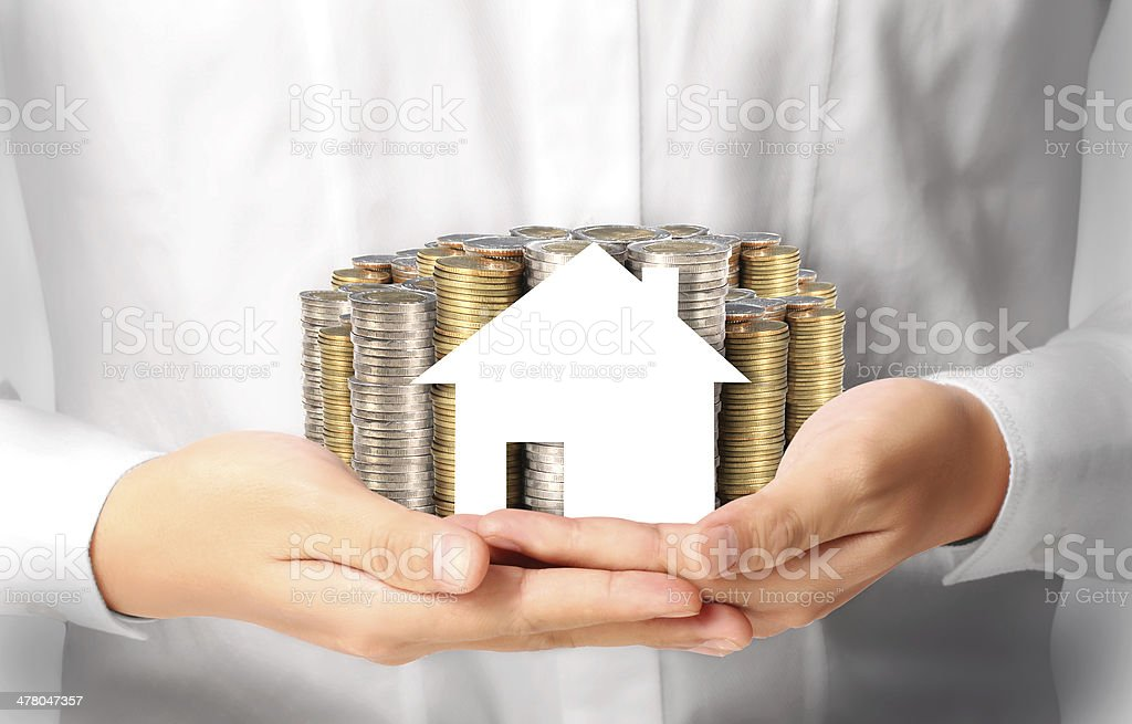 holding house representing home ownership royalty-free stock photo