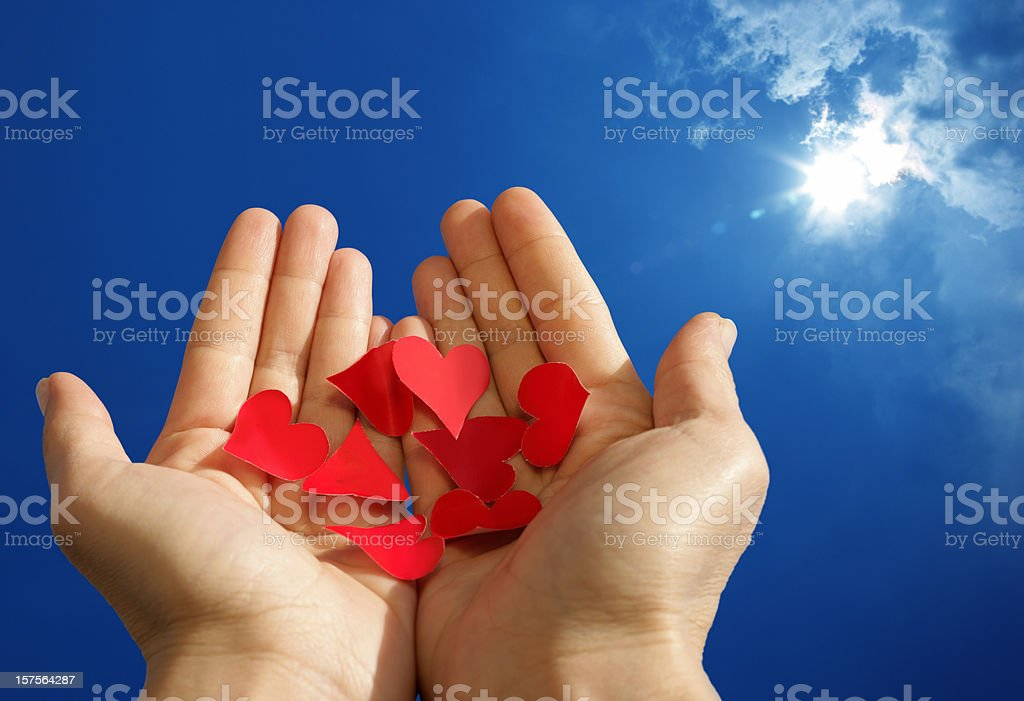 holding love and hope stock photo