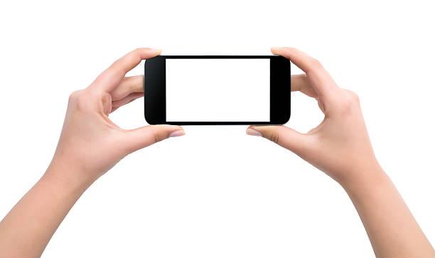 halten handy, isoliert - fotografieren stock-fotos und bilder