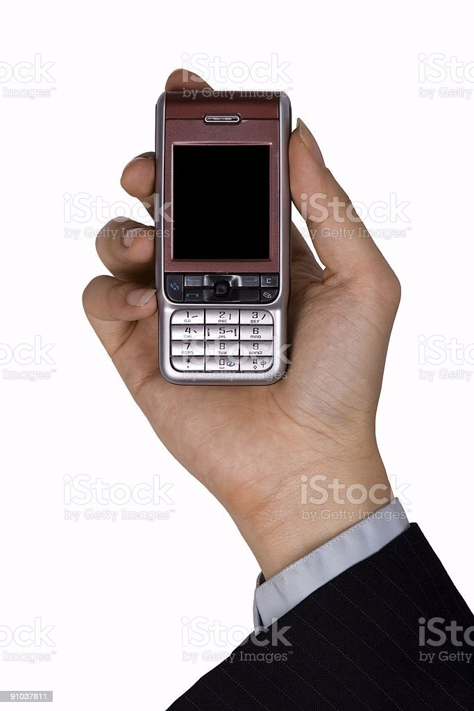 Holding Mobile Phone royalty-free stock photo