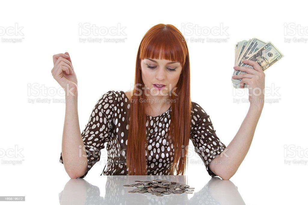 Holding Money stock photo