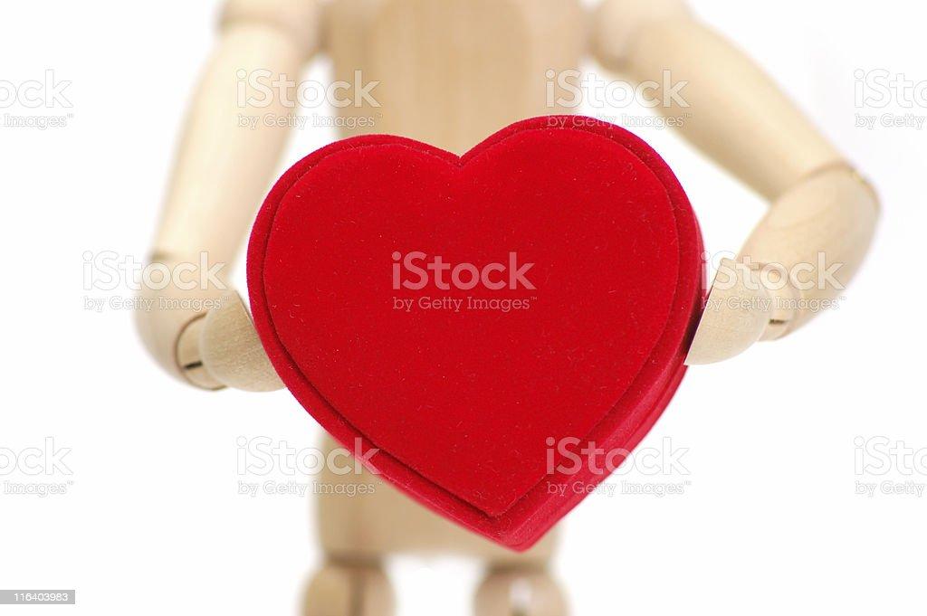 holding my heart royalty-free stock photo