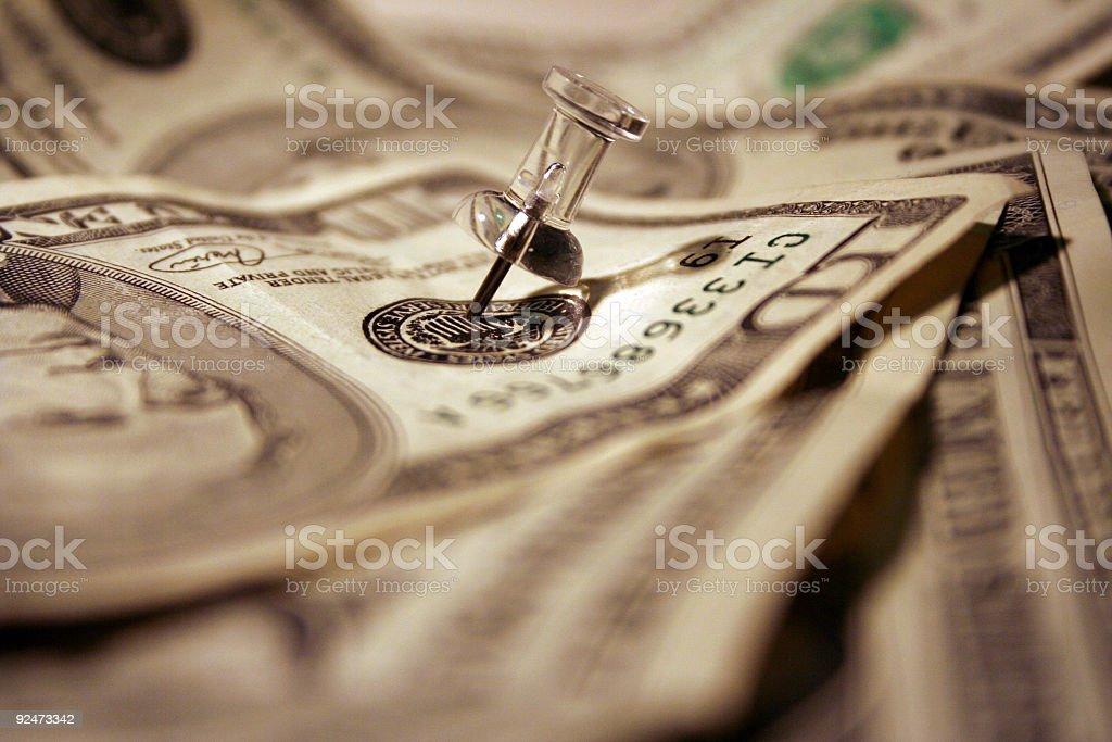 , die auf Geld Lizenzfreies stock-foto