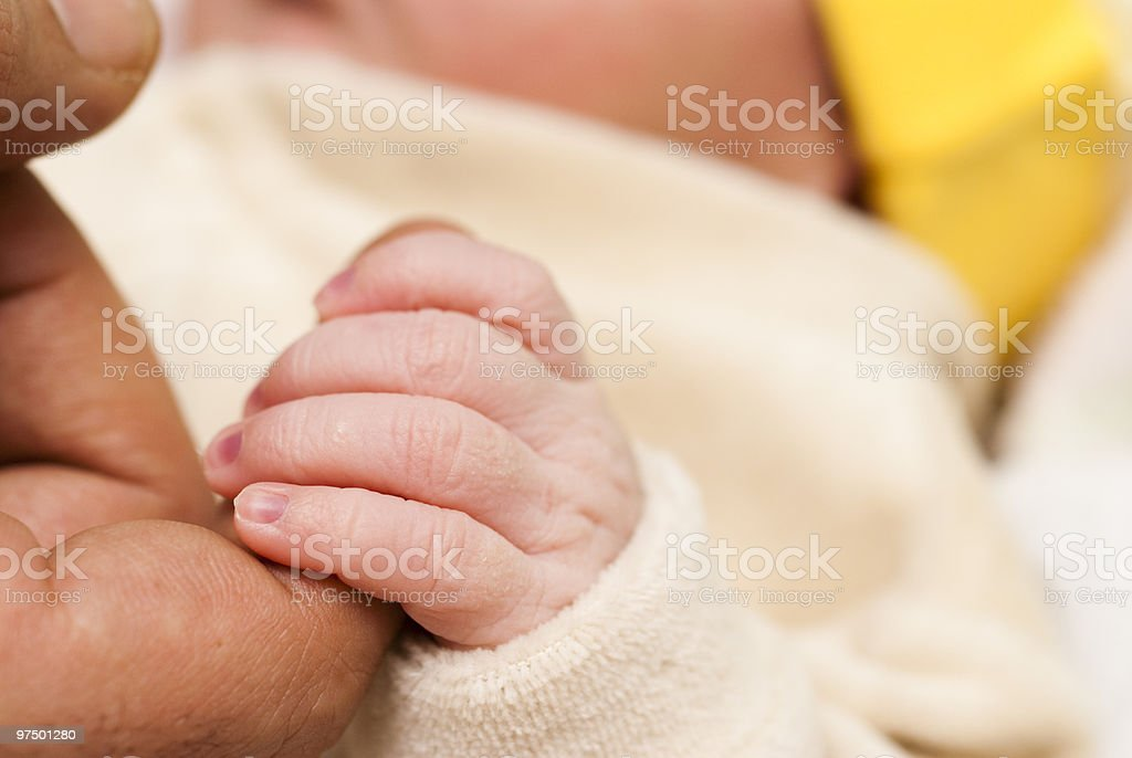 Holding on to my father royalty-free stock photo