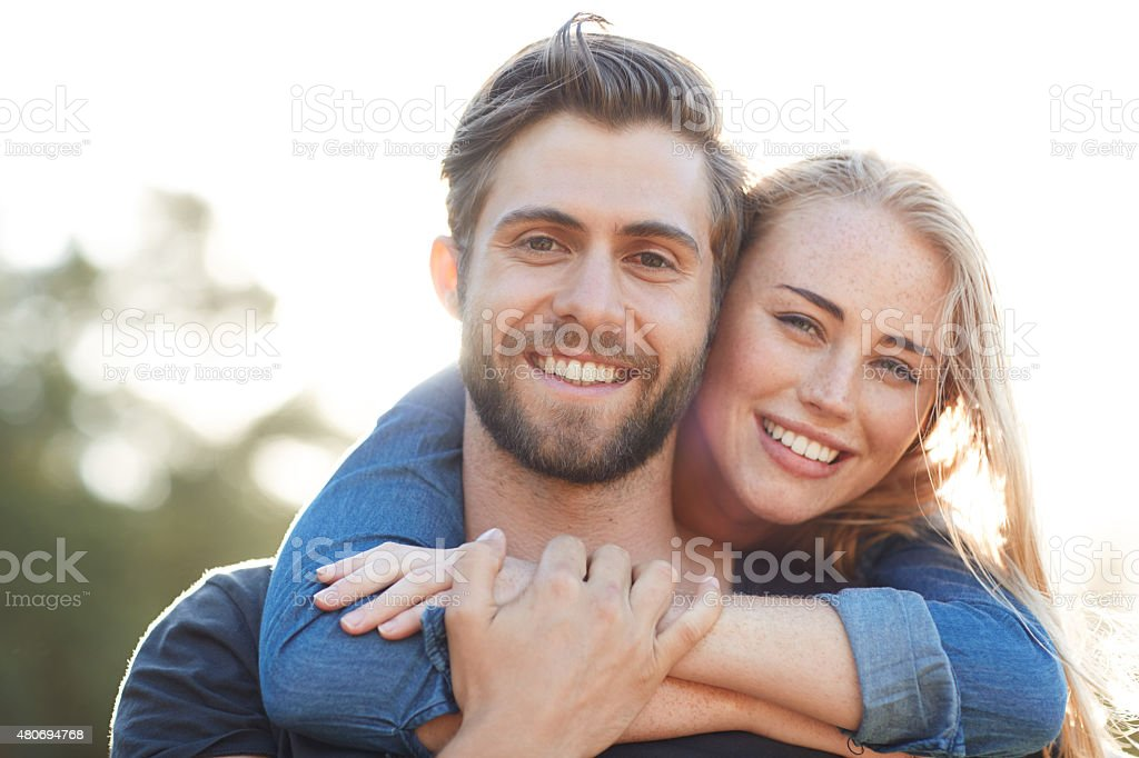 Holding onto true love stock photo