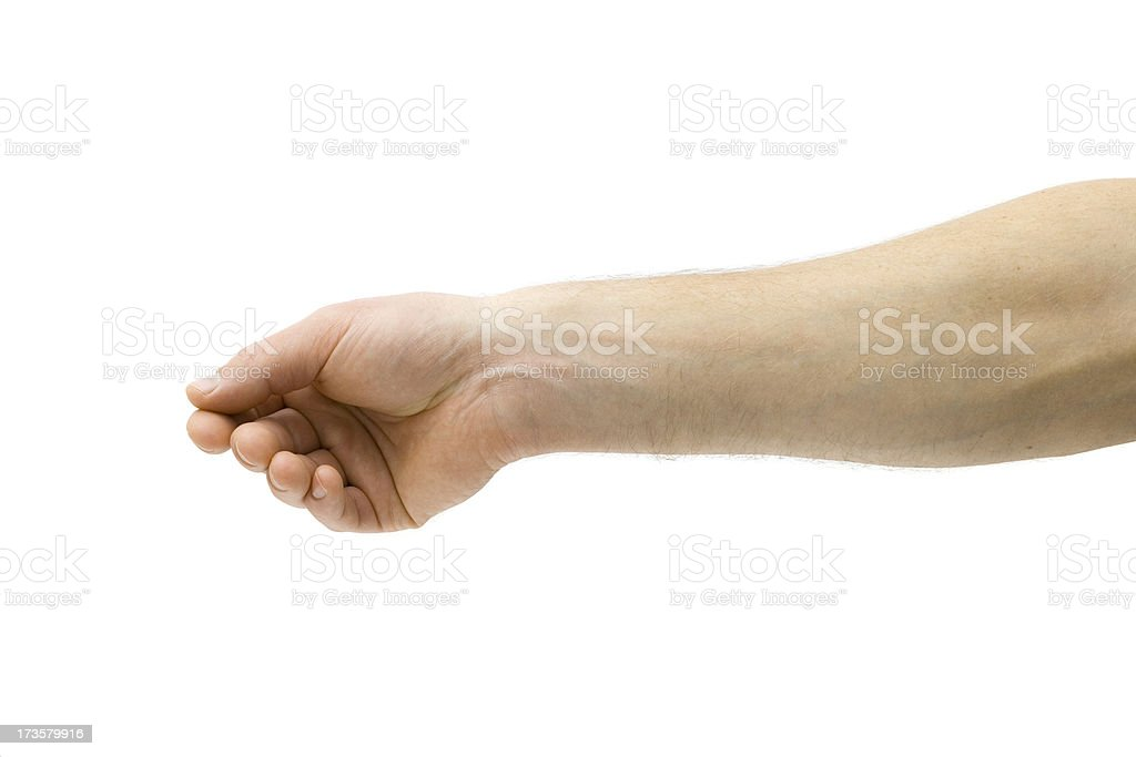 Holding Paper stock photo