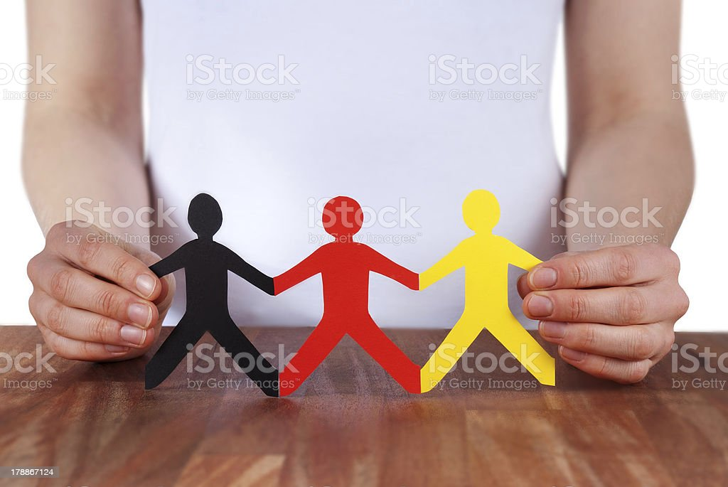 holding people royalty-free stock photo