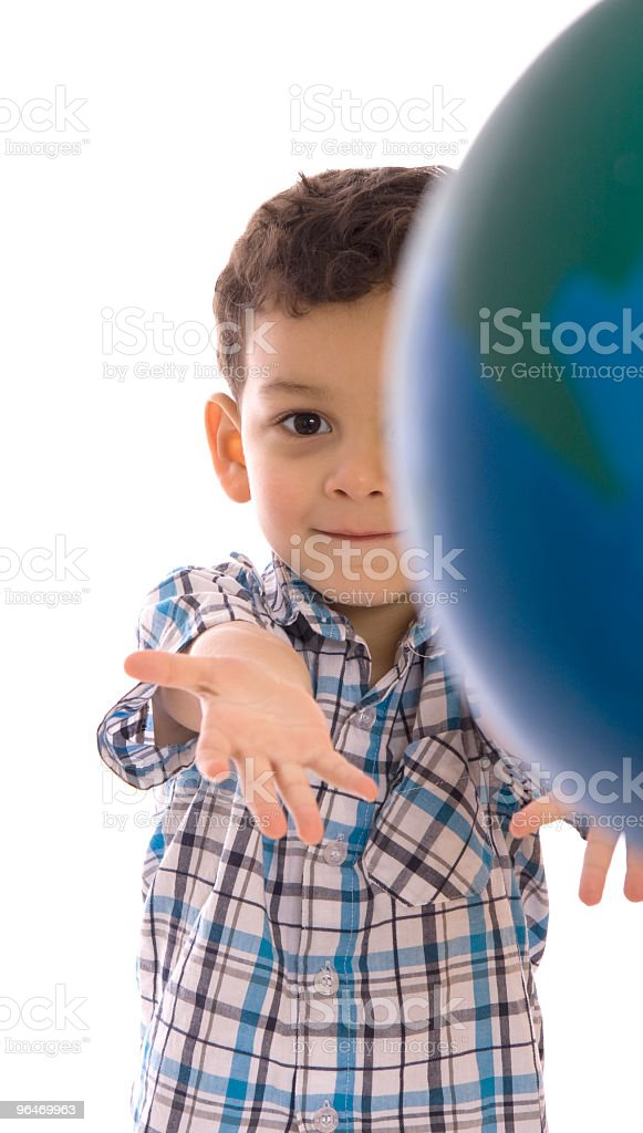 Holding Planet royalty-free stock photo